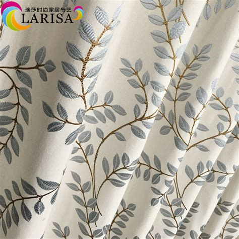 contemporary curtain fabric aliexpress com buy 2016 contemporary leaves light blue