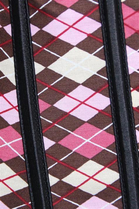 tartan print corset features a plaid print n5382