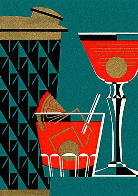 vintage cocktail vintage cocktail shaker illustration graphically