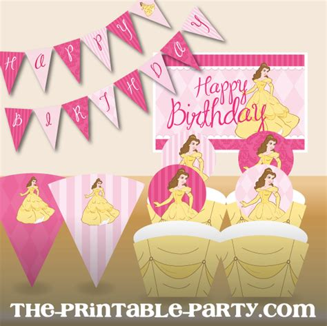 printable birthday princess banner printable princess birthday collection the printable