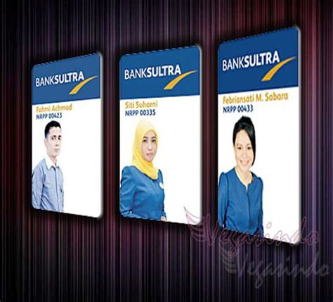 design id card karyawan contoh id card perusahaan sle member card kartu