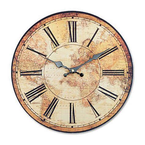 retro vintage style large clocks world map globe home