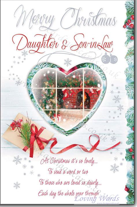 merry christmas daughter son  law greeting cards  loving words