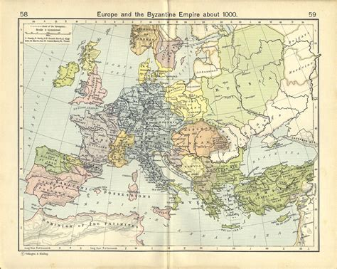 Europe And The Byzantine Empire Map 1000 | europe and the byzantine empire about 1000 full size