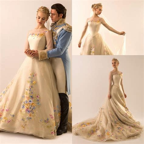 Lspowg65 Wedding Dress Quality cinderella bridal gowns embroidery sleeve 2016 wedding dresses high quality ebay