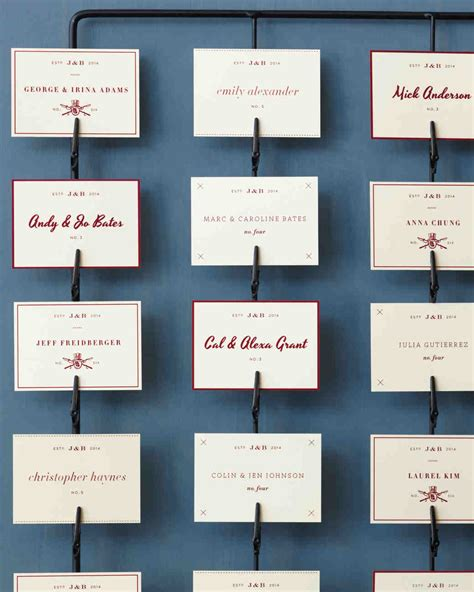 table seating cards things seating displays and table numbers martha