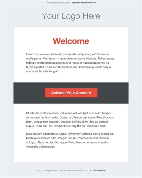 html email notification template minimal http stlia html email template