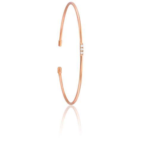 Bracelet Jonc Lovely Vermeil Or Rose & Diamant   Ocarat