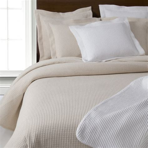 white and cream bedding design port waffle heavy weave pure cotton bed throws
