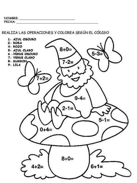dibujos para colorear sumasyrestas colorea por sumas y n fichas de matem 225 ticas suma y colorea