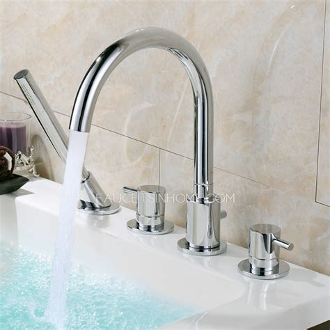 high end rotatable sidespray tub bathtub faucet