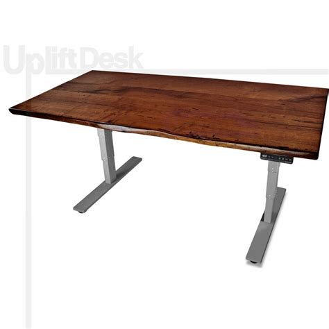 adjustable wood standing desk shop uplift 900 mesquite solid wood height adjustable desks