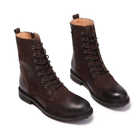 best black boots mens selling high top boots retro combat boots winter
