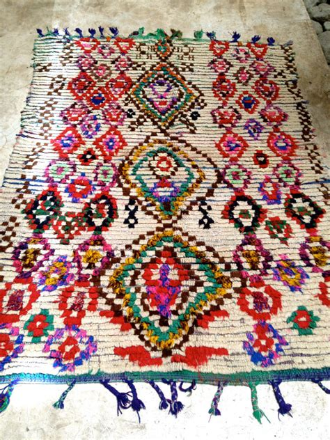 Etsy Rug by Vintage Moroccan Rug Boucherouite By Bazaarliving On Etsy