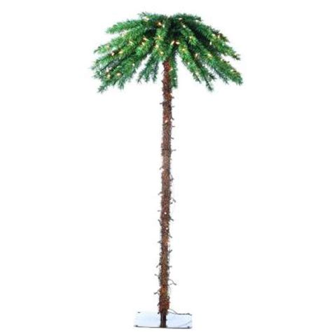 outdoor lighted palm tree home depot sterling 6 ft pre lit palm artificial christmas tree with