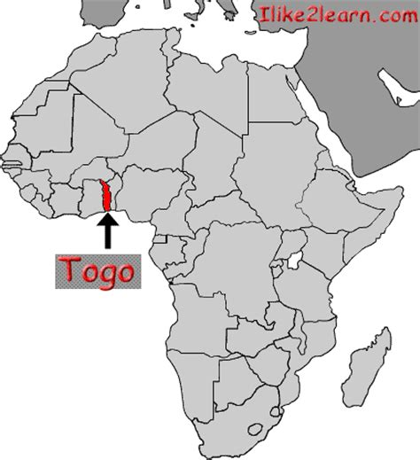 africa map togo togo