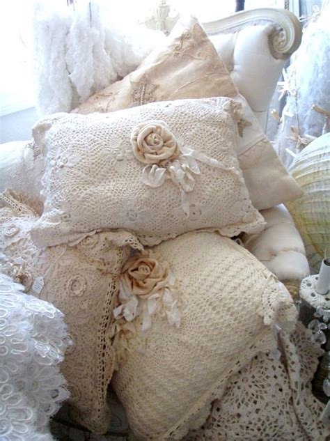 208 best images about frilly pillows lace on pinterest