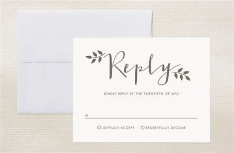 wedding response card template ways to word your rsvp card rustic wedding chic