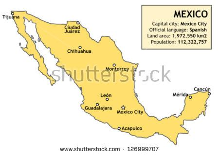 mexico major cities map important cities in mexico pictures to pin on