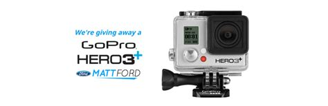 Gopro Giveaways - win a gopro hero3 silver edition from matt ford matt ford