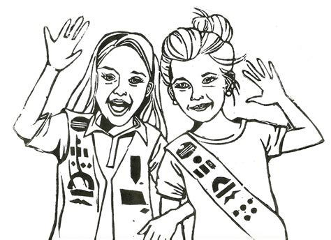 girl scouts coloring pages lissartori girl scouts
