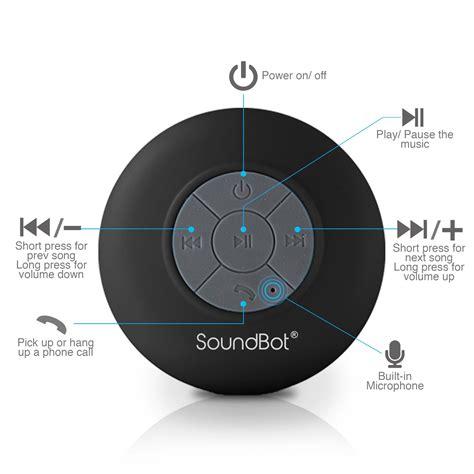 Bluetooth 3 0 Shower Speaker Black soundbot sb510 hd water resistant bluetooth 3