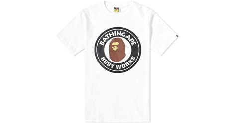 Bathing Ape Busy Work Bape a bathing ape busy works in white for lyst