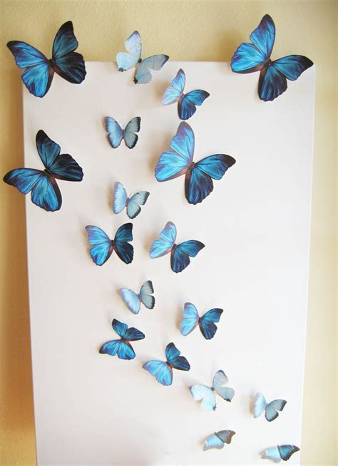 18 Butterflies, Blue, Something Blue, Butterfly, Paper