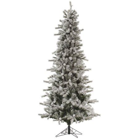 12 ft slim flocked christmas tree 12 flocked slim fir artificial tree unlit walmart