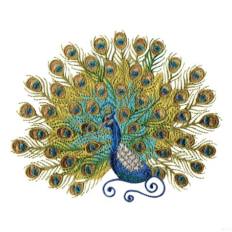 embroidery design of peacock swnpa126 peacock embroidery design