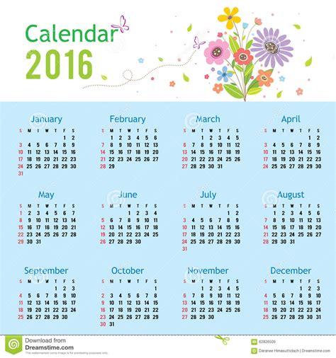calendar new design vector happy new year calendar 2016 vector stock illustration