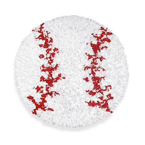 Baseball Bathroom Rug Buy Shaggy Raggy Baseball Rug From Bed Bath Beyond