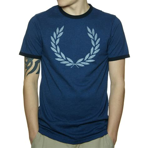 Fred Perry T Shirt buy fred perry indigo marl ringer t shirt fred perry