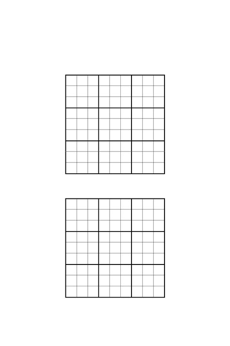 free printable sudoku templates sudoku grids template free download