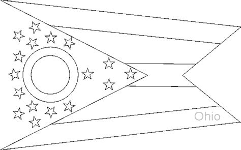ohio state flag coloring pages usa for kids