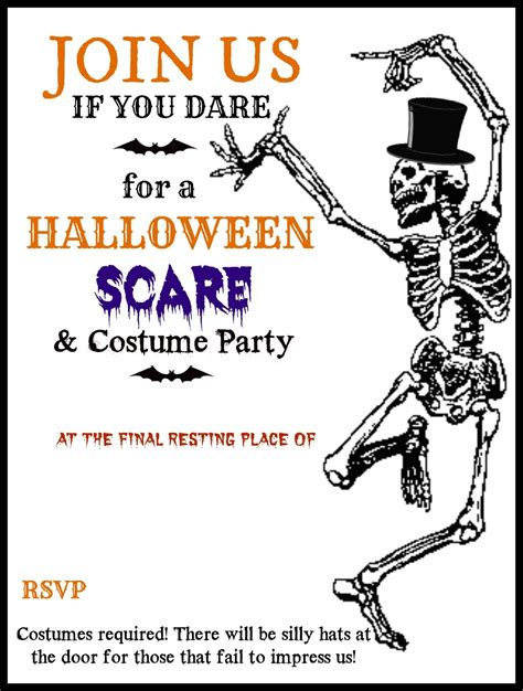 printable halloween party invitations print halloween printable skeleton invite diy halloween