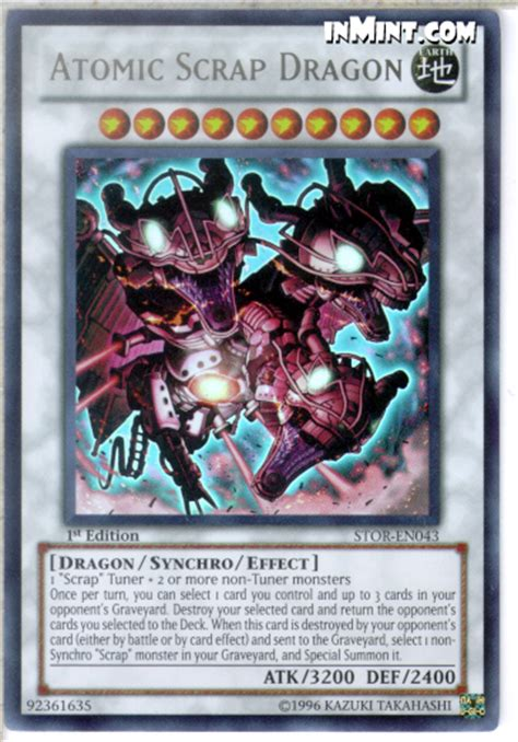 Kartu Yugioh Atomic Scrap Ultra inmint yugioh ultra card singles atomic scrap stor en043 1st edition