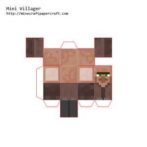 Minecraft Papercraft Villager - papercraft mini villager
