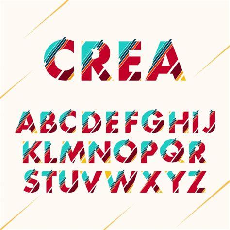 font design vector free download coloured alphabet design vector free download