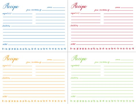 print recipe cards template printable recipe cards pour tea and coffee