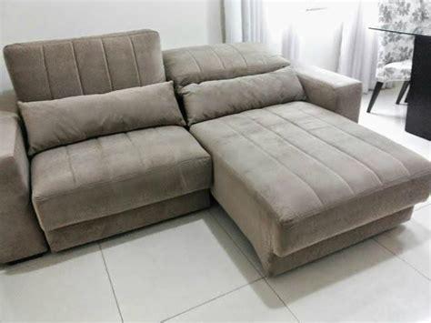 sofa com chaise retratil para sala sof 225 retr 225 til com encosto reclin 225 vel belas dicas