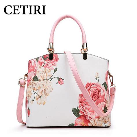 Crt Bag Flower cetiri pink floral bag handbag flower bag high