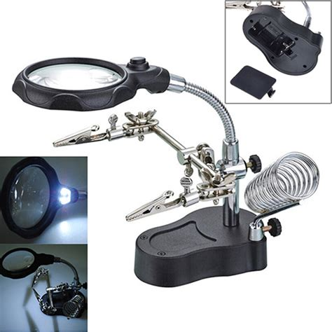 Helping With Soldering Stand Limited 3 5x helping soldering stand with led light magnifier