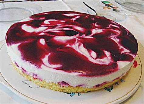 marmorieren kuchen marmorierte kirsch joghurt torte rezept mit bild