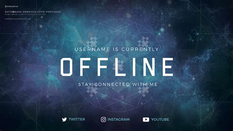 Twitch Profile Banner Templates Premade Offline Image Twitch Banner Template