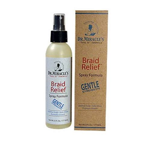 how to make braid spray with water and glycerine dr miracle s braid relief spray formula gentle 6oz dr