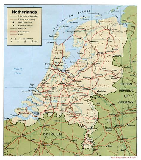road map  netherlands holland netherlands road map