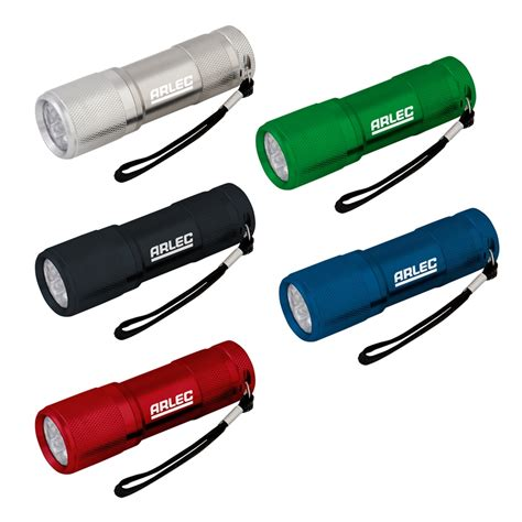 Led Warehouse Lighting Arlec 9 Led Watchman Metal Torch With Batteries Bunnings