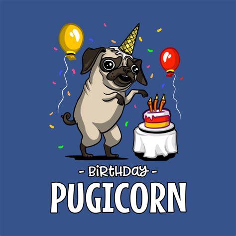 pugicorn funny pug dog kid s birthday pugicorn t shirt teepublic