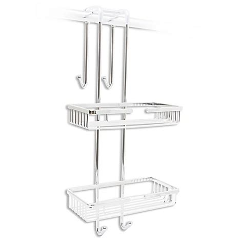 shower caddy bed bath beyond taymor 174 over the door shower caddy in chrome bed bath